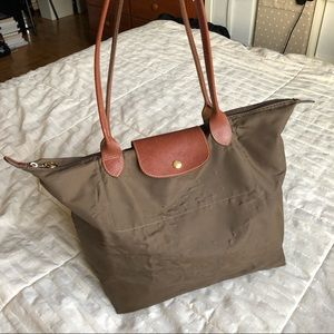 Longchamp Le Pliage Shopping Tote in Tan